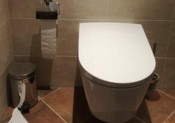 Nieuwe badkamer met luxe douche-wc